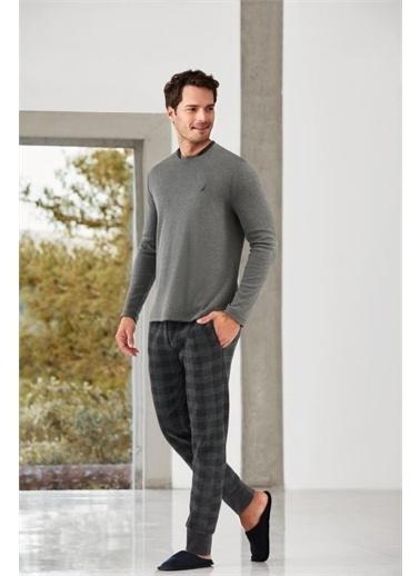 Nautica Nautıca 006 Uzun Kol Erkek Pijamatakımı  Antrasit